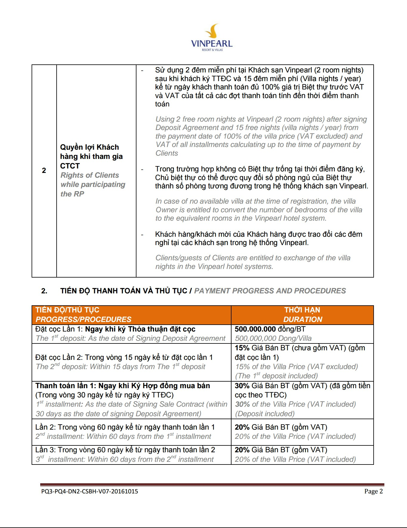 Chinh sach ban hang Vinpearl Phu Quoc