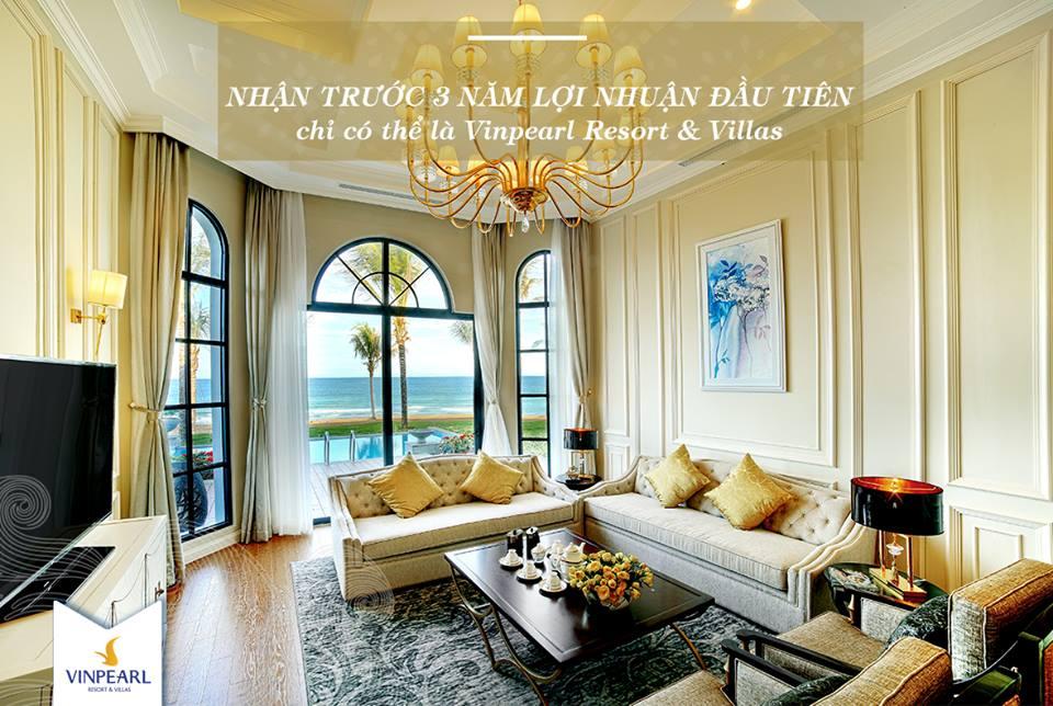 nhận trước 3 năm lợi nhuận khi đầu tư Vinpearl Long Beach Villas