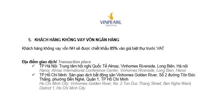 chính sách bán hàng dự án Vinpearl Cửa Hội Nghệ An9