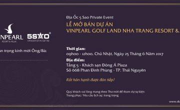 Event Private: Địa ốc 5 Sao Mở Bán Biệt Thự Biển Vinpearl Golf Land Nha Trang