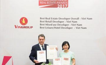 Vingroup xuất sắc đoạt 4 giải thưởng bất động sản của Euromoney